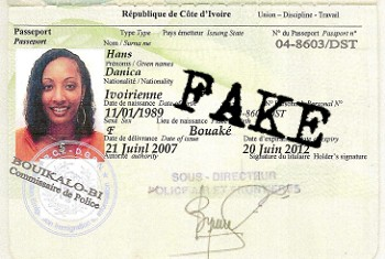 Fake documents used by scammers